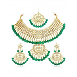 Asmitta Jewellery Gold plated Necklace Earings Set