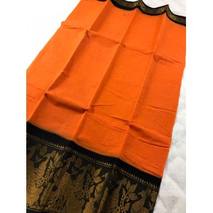Bengal Madurai Handloom Saree With Woven Zari Border