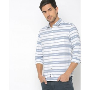 NETPLAY Cotton Casual Regular Fit Shirt White Color