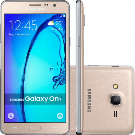 Samsung Galaxy On7 Mobile Phone (Gold 1.5GB RAM, 8GB ROM) Refurbished With 6 Month Seller Warranty