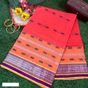 Bengal Tant Cotton Saree with Woven Motifs