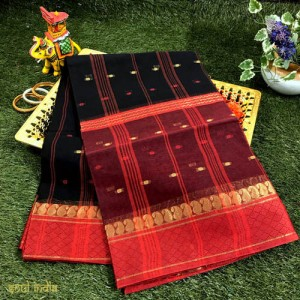 Bengal Tant Cotton Saree With Full Woven Design