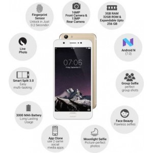 VIVO Y69 Smartphone (Champagne Gold, 3 GB Storage)  (32 GB RAM) Certified Refurbished Grade B